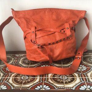 Large orange leather Roberta Gandolfi Purse